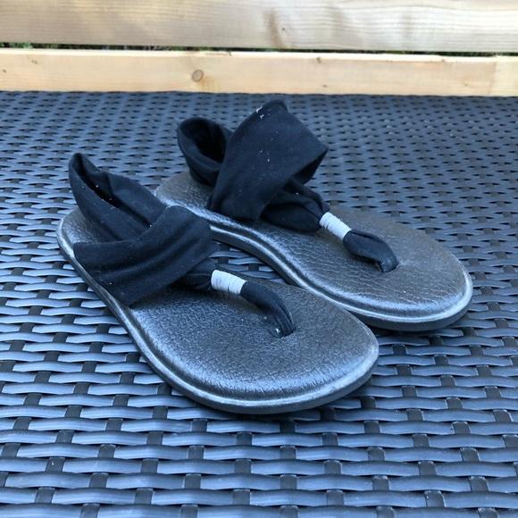 ⭐️ Sanuk Yoga Sling Black Sandals